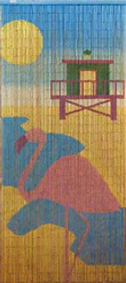Beaded curtains painted bamboo painted scenes bamboo beaded